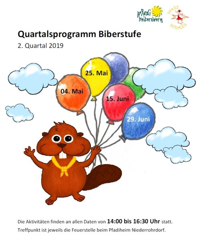 Quartalsprogramm Biberstufe Q2